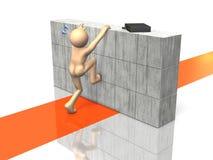 Businessman is climbing. Stock Photos
