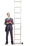 Businessman climbing the ladder Stock Image