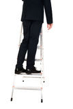 Businessman climbing ladder Royalty Free Stock Image
