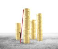 Businessman climbing Royalty Free Stock Photos