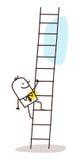 Businessman climbing up Stock Images