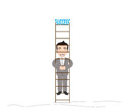 Businessman climbing up Royalty Free Stock Images