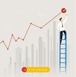 Businessman climbs the stairs Stock Photos