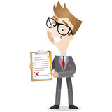 Businessman with clipboard and contract Stock Images