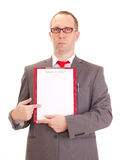 Businessman with clipboard Stock Photography