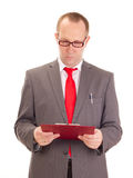 Businessman with clipboard Royalty Free Stock Photo