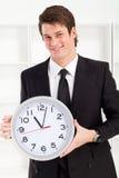 Businessman clock Stock Image