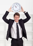 Businessman clock Royalty Free Stock Photos