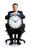 Businessman and clock Stock Image