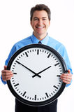 Businessman and clock Royalty Free Stock Photos
