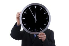 Businessman with clock Stock Photography