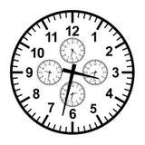 Businessman clock Stock Photos