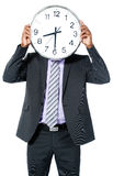 Businessman with Clock Head Royalty Free Stock Images