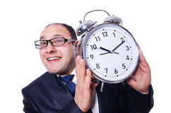 Businessman with clock Stock Photos