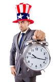 Businessman with clock Royalty Free Stock Images