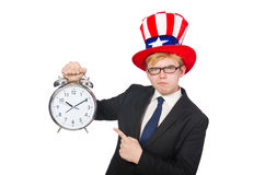 Businessman with clock Royalty Free Stock Photo