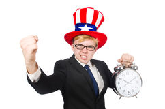 Businessman with clock Royalty Free Stock Photography