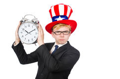Businessman with clock Stock Image