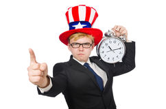 Businessman with clock Royalty Free Stock Image