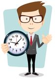 Businessman and clock , vector format Stock Images