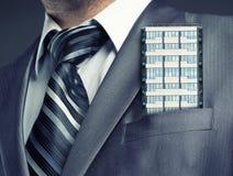 Businessman close up Stock Images