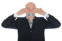 Businessman closing his eyes Royalty Free Stock Photo