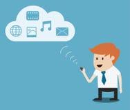Businessman  cloud computing,communication Stock Photo