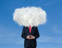 Businessman with cloud on his head Stock Photo