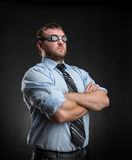 Businessman in the clouds Stock Photography