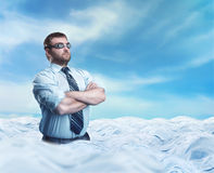 Businessman in the clouds Royalty Free Stock Images