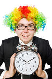 Businessman clown in funny concept isolated Stock Photos