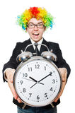Businessman clown in funny concept isolated Stock Photography