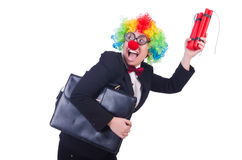 Businessman clown Stock Photo