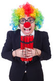 Businessman clown Royalty Free Stock Images
