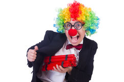 Businessman clown Royalty Free Stock Photos