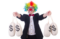 Businessman clown Stock Image