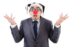 Businessman clown Royalty Free Stock Photography
