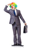 Businessman clown Stock Photography