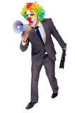Businessman clown Stock Image