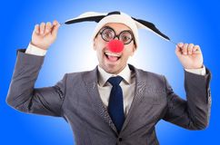 Businessman clown  Stock Images