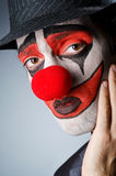 Businessman with clown wig Royalty Free Stock Images