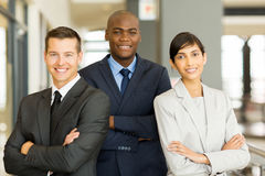 Businessman with co-workers Stock Photo