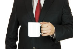 Businessman and coffee Royalty Free Stock Image