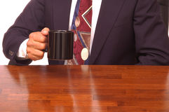 Businessman with coffee Stock Photo