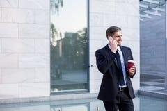 Businessman and coffee Stock Photos