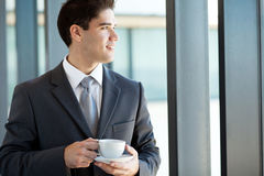 Businessman coffee break Royalty Free Stock Photography
