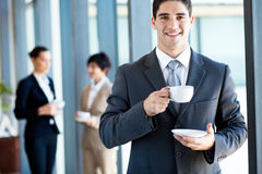 Businessman coffee break Royalty Free Stock Photos