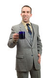 Businessman On Coffee Break Stock Photos