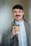Businessman With Coffee Stock Photos