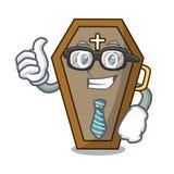 Businessman coffin character cartoon style vector illustration